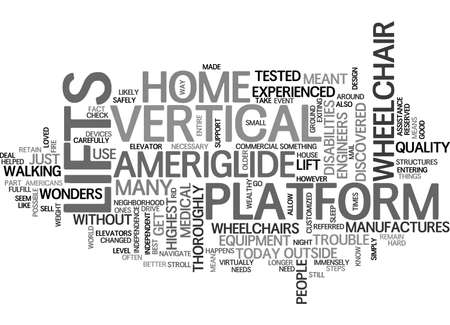 AMERICANS WITH DISABILITIES ACT TEXT WORD CLOUD CONCEPT Ilustrace