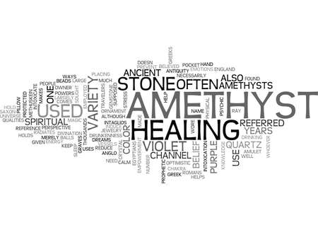 AMETHYST IS FEBRUARY S BIRTHSTONE TEXT WORD CLOUD CONCEPT