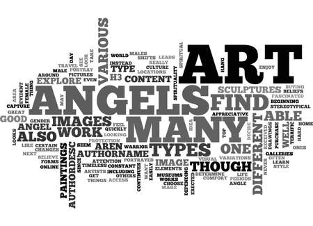 ANGELS AND DEMONS TEXT WORD CLOUD CONCEPT