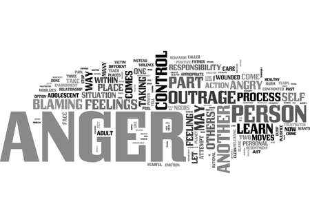 ANGER CONTROL TEXT WORD CLOUD CONCEPT Illustration
