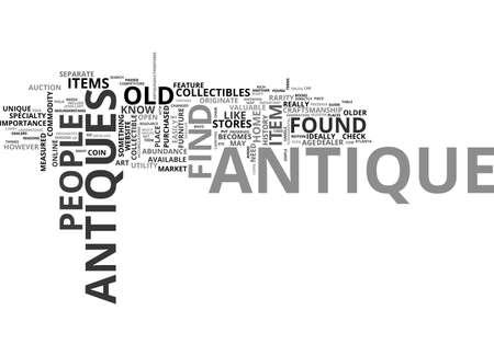 ANTIQUE TOY TRAINS TEXT WORD CLOUD CONCEPT Illustration