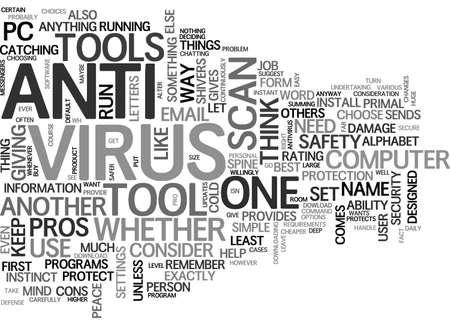 ANTIVIRUS COMPARISON TEXT WORD CLOUD CONCEPT 向量圖像