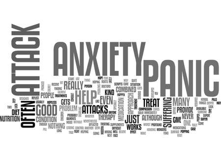 ANXIETY AND NERVOUSE BREAKDOWN TIE IN TOGETHER TEXT WORD CLOUD CONCEPT