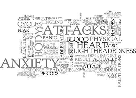 ANXIETY ATTACK SYMPTOMS TEXT WORD CLOUD CONCEPT