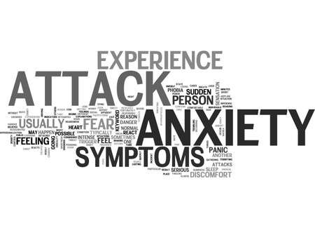 ANXIETY ATTACK SYMPTOMS WHAT YOU SHOULD KNOW TO OVERCOME ANXIETY DISORDER TEXT WORD CLOUD CONCEPT