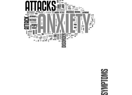 ANXIETY ATTACK TEXT WORD CLOUD CONCEPT