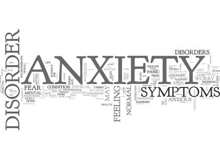 dealt: ANXIETY DISORDER AND CHANGED LIVES TEXT WORD CLOUD CONCEPT Illustration