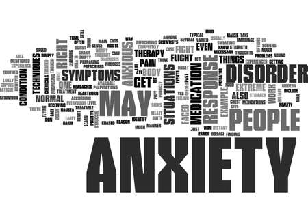 ANXIETY DISORDER SYMPTOMS TEXT WORD CLOUD CONCEPT