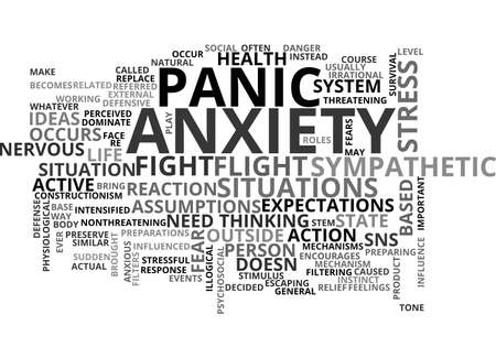 ANXIETY NO NEED TO WORRY TEXT WORD CLOUD CONCEPT Stock Vector - 79503627