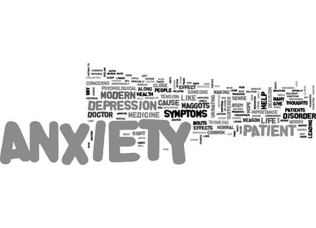 ANXIETY SYMPTOMS TEXT WORD CLOUD CONCEPT