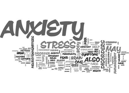 ANXIETY TEXT WORD CLOUD CONCEPT Illustration