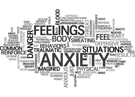 ANXIETY WHAT YOU NEED TO KNOW TEXT WORD CLOUD CONCEPT