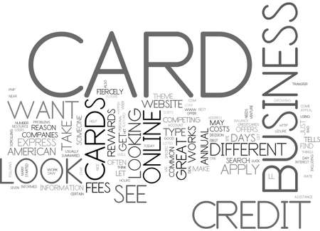 APPLY BAD CARD CREDIT CREDIT ONLINE TEXT WORD CLOUD CONCEPT Illustration