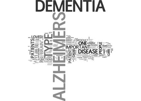 ALZHEIMERS CURE TEXT WORD CLOUD CONCEPT