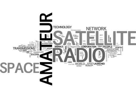 OPERADORES DE RADIO AMATEUR HEROES TEXTO PALABRA NUBE CONCEPTO Ilustración de vector