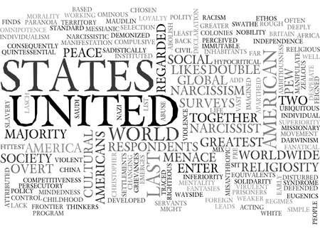 AMERICA THE DICTATORSHIP TEXT WORD CLOUD CONCEPT Ilustração