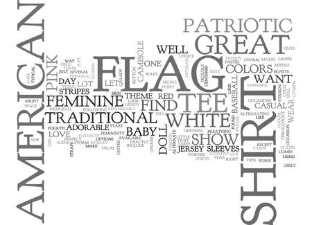 AMERICAN FLAG HISTORY TEXT WORD CLOUD CONCEPT Ilustrace