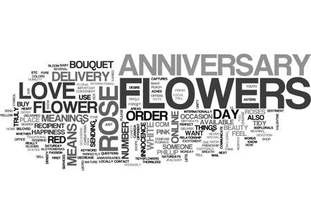 ANNIVERSARY FAVORS COFFEE OR TEA TEXT WORD CLOUD CONCEPT
