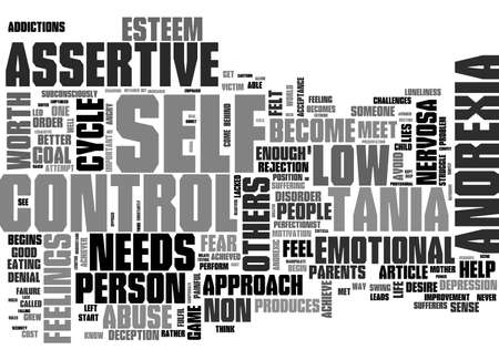 ANOREXIA A DISEASE INDUCED BY THE SOCIETY TEXT WORD CLOUD CONCEPT