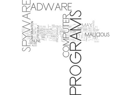 ANTI ADWARE SPYWARE VIRUS PRIVACY PLEASE TEXT WORD CLOUD CONCEPT