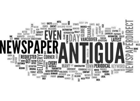 ANTIGUA MAP TEXT WORD CLOUD CONCEPT