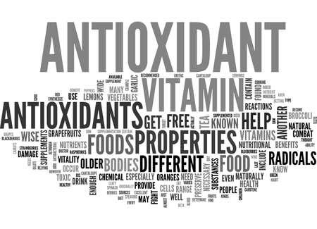 ANTIOXIDANT ENZYME TEXT WORD CLOUD CONCEPT Ilustrace