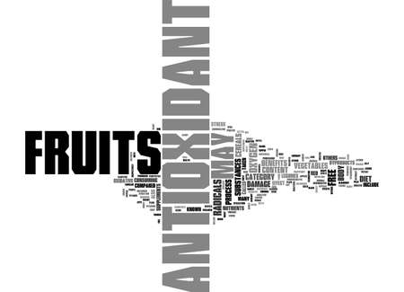 ANTIOXIDANT FOODS TEXT WORD CLOUD CONCEPT