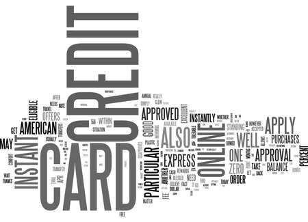 APPLY ONLINE FOR A CREDIT CARD IN CANADA TEXT WORD CLOUD CONCEPT