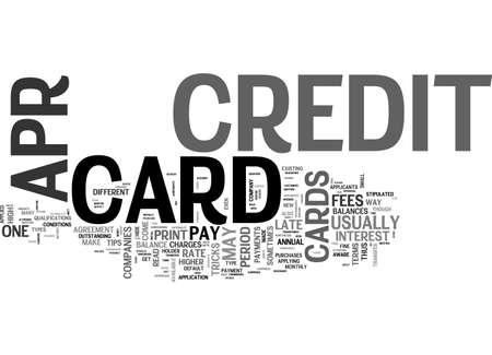 APR CREDIT CARDS OK WHAT S THE CATCH TEXT WORD CLOUD CONCEPT Illusztráció