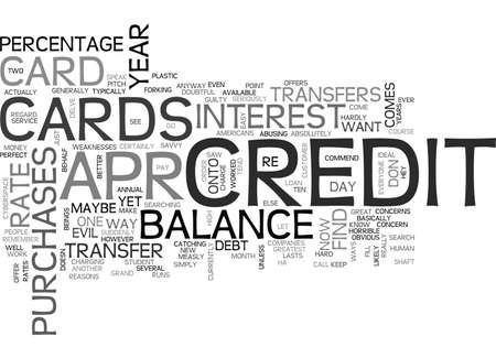 advantages: APR CREDIT CARDS YOU CAN FIND TEXT WORD CLOUD CONCEPT Illustration