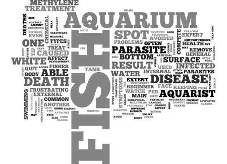AQUARIUM FISH FOOD TIPS TEXT WORD CLOUD CONCEPT
