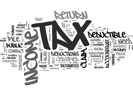 ARE YOU READY FOR TAX DAY TEXT WORD CLOUD CONCEPT