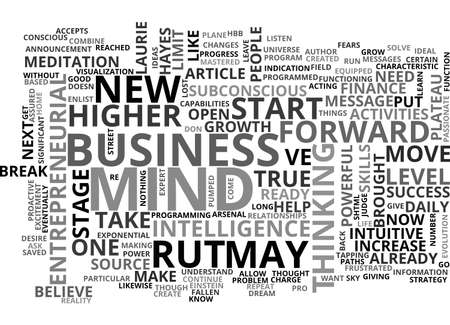 ARE YOU READY TO BREAK OUT OF YOUR ENTREPRENEURIAL RUT TEXT WORD CLOUD CONCEPT Illustration