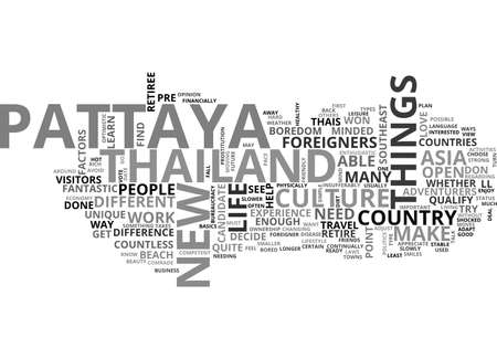 qualify: ARE YOU READY TO RETIRE IN PATTAYA TEXT WORD CLOUD CONCEPT