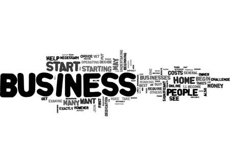 beginnings: ARE YOU READY TO START YOUR OWN HOME BUSINESS TEXT WORD CLOUD CONCEPT