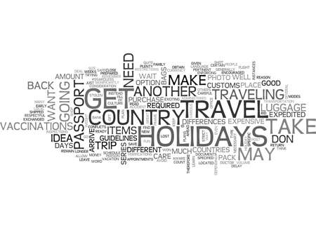 ARE YOU READY TO TRAVEL FOR THE HOLIDAYS TEXT WORD CLOUD CONCEPT Illustration
