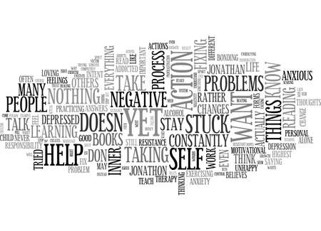 ARE YOU STUCK IN YOUR LIFE TEXT WORD CLOUD CONCEPT