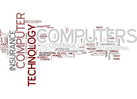 ARE YOUR COMPUTERS AND TECHNOLOGY COVERED TEXT WORD CLOUD CONCEPT
