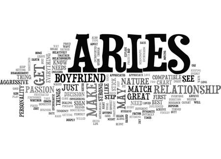 ARIES AS A BOYFRIEND YOUR SIGN MAY PLAY A FACTOR TEXT WORD CLOUD CONCEPT
