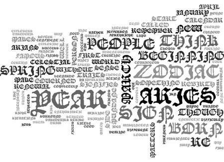 ARIES TEXT WORD CLOUD CONCEPT Illustration