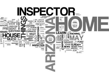 ARIZONA HOME INSPECTOR TEXT WORD CLOUD CONCEPT