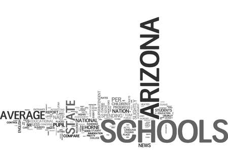 ARIZONA SCHOOLS ABOVE AVERAGE FOR LESS MONEY TEXT WORD CLOUD CONCEPT 向量圖像