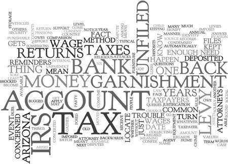 ARIZONA TAX ATTORNEY TEXT WORD CLOUD CONCEPT