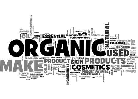 AWHAT MAKES ORGANIC MAKE UP BETTER TEXT WORD CLOUD CONCEPT