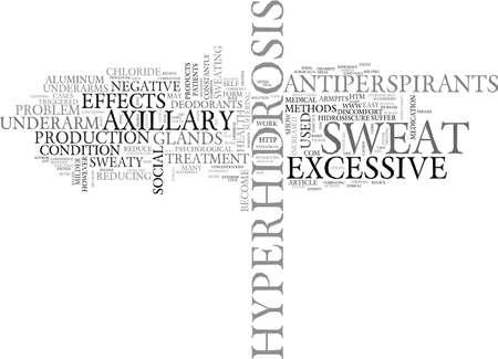 AXILLARY HYPERHIDROSIS TREATMENT TEXT WORD CLOUD CONCEPT