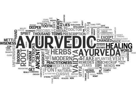 AYURVEDA TREATMENT FOR HEART TEXT WORD CLOUD CONCEPT