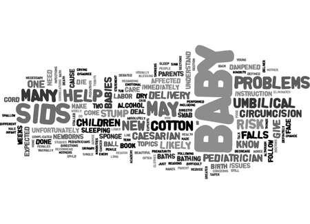 아기를 돌보는 모든 부모는 모든 부모가 알아야 할 텍스트 단어 개념을 이해해야합니다. 스톡 콘텐츠 - 79497680