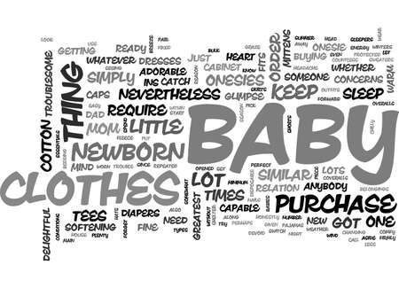 BABY CLOTHES ESSENTIALS YOU CANNOT DO WITHOUT TEXT WORD CLOUD CONCEPT
