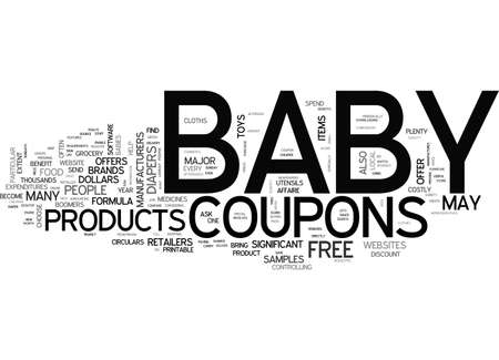 BABY COUPONS TEXT WORD CLOUD CONCEPT