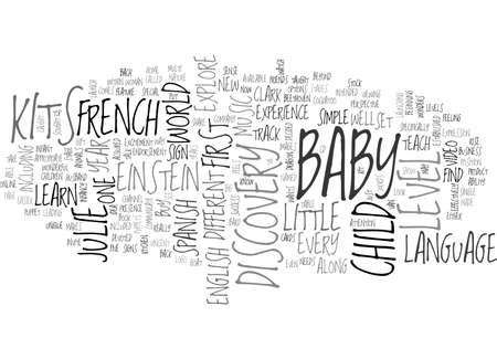 BABY EINSTEIN FRENCH TEACH YOUR LITTLE ONE FRENCH TEXT WORD CLOUD CONCEPT Stock Vector - 79505511